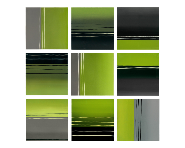1.Green Grey Collage